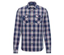 Hemd creme / blau / rot