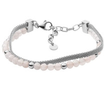 Armband 'Anette' rosa / silber