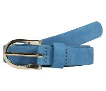 Schmaler Ledergürtel blau