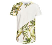 T-Shirt creme / grün