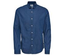 Langarmhemd Schmal geschnittenes blau