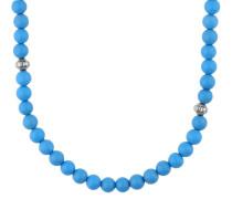 Halskette 'Hot' himmelblau / silber