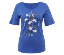 T-Shirt ultramarinblau / mischfarben