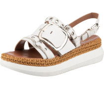 Sandale weiß / beige