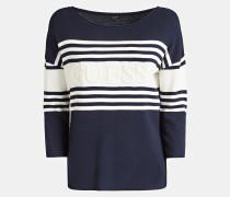 Pullover dunkelblau / naturweiß