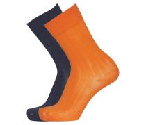 Socken orange / nachtblau