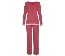 Pyjama pastellrot / weiß