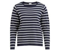Feinstrick Pullover 'Vistrike' blau / weiß