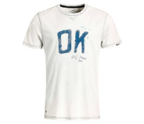 T-Shirt 'Rugby Ok' blau / weiß