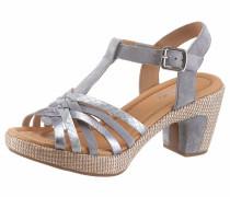 Sandalette taubenblau / hellbraun