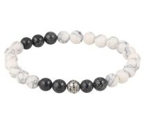 Armband 'Bead' schwarz / weiß