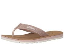 Sandale 'Zehentrenner mit Glitzer'