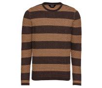 Pullover 'Knit - Randolph' braun / ocker