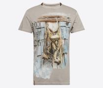T-Shirt 'Peter' grau / mischfarben