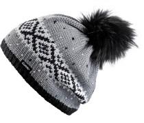 Noma Bommelmütze Damen grau / schwarz