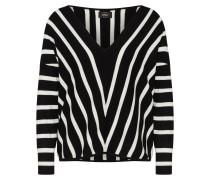 Pullover 'aya' schwarz / weiß
