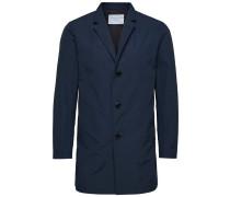 Langer Mantel blau