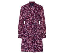 Kleid 'lisa' nachtblau / rot