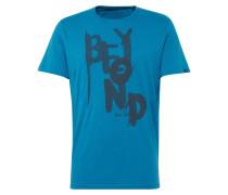 T-Shirt blaumeliert