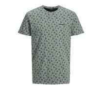 Bedrucktes T-Shirt grün