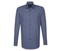 City-Hemd 'Modern' blau / weiß