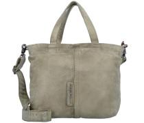 Handtasche Leder 29 cm oliv