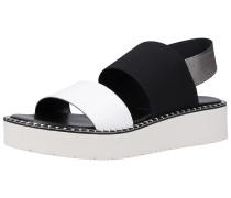 Sandale weiß / schwarz / silber