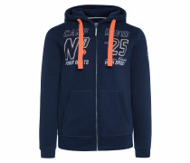 Hoodie nachtblau / orange / weiß