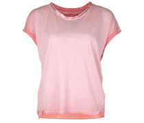 T-Shirt Wide Paillette koralle