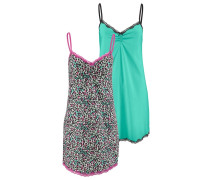 Nachthemden mint / pink / schwarz