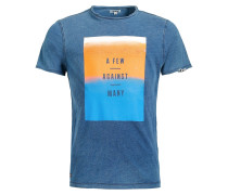 T-Shirt 'Rugby Ombre' blue denim