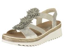 Sandalen hellbeige / silber / weiß