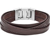 Armband 'jf02999040' kastanienbraun / grau