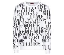 Sweatshirt 'Dowan 10184534 01' schwarz / weiß