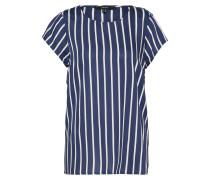 T-Shirt 'nicky' dunkelblau / weiß