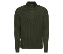 Pullover 'half Buttons 5 GG' tanne