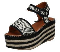 Sandale 'yoko32' beige / schwarz