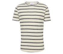 T-Shirt 'mingus' creme / dunkelgrün