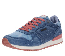 Sneaker 'gable Patch Dot' blau / rosé