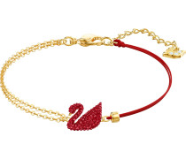 Armband 'Iconic Swan' gold / rot