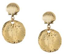 Ohrringe 'Shell & Disc Drop' gold