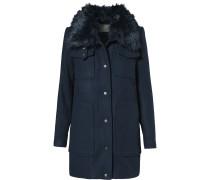 Mantel Woll- blau