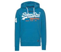 Sweatshirt hellblau / koralle / weiß