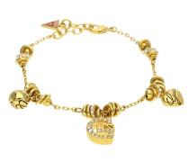 Armband 'ubb11317' gold / rot