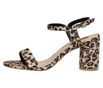 Sandalen schwarz / beige