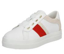 Sneaker 'Aurora' rot / weiß / offwhite