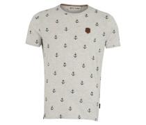 T-Shirt navy / hellgrau