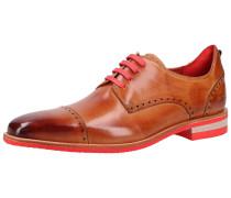 Schuhe cognac / hellrot