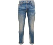 Slim Fit Jeans Loom light blue blau