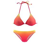 Triangel-Bikini gelb / neonorange